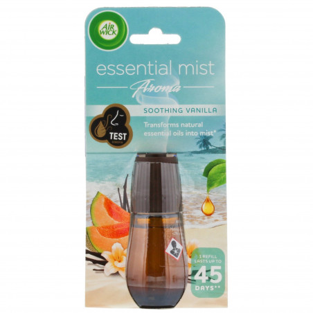 Air Wick - Recharge Pour Diffuseur d'Huiles Essentielles - Soothing Vanille 20ml