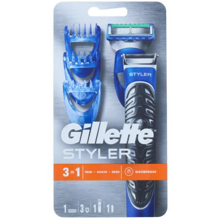 Gillette - Tondeuse 3 en 1 FUSION5 PROGLIDE STYLER