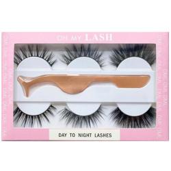 Oh My Lash - Ensemble Faux Cils en Vison - Day to Night 4pcs