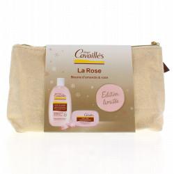 Rogé Cavaillès - Trousse Crème de Douche Beurre d'Amande et Rose 250 ml + Savon 115 g