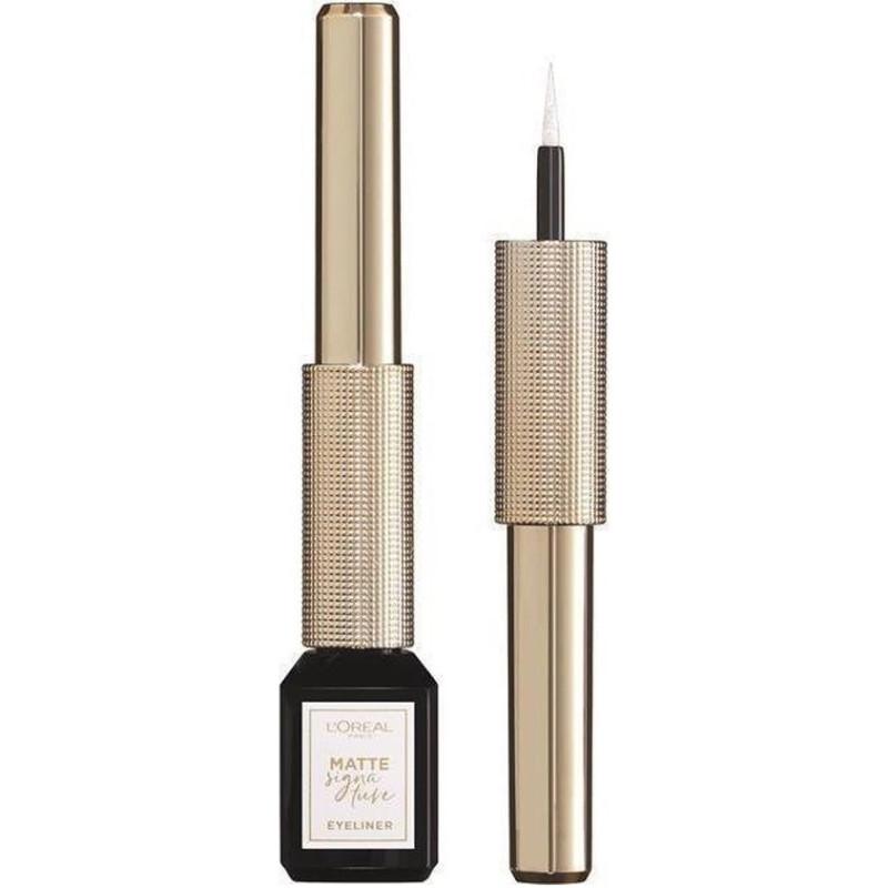 L'Oréal Paris - Eyeliner Liquide Mat X KARL - 08 Snow Signature