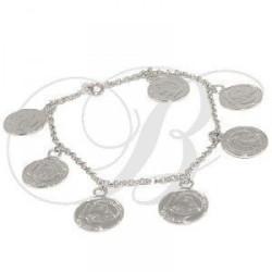 Bracelet rhodié - Petits maillons ' Louis d'Or '