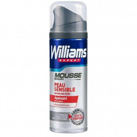 Mousse à raser WILLIAMS - Peaux sensibles