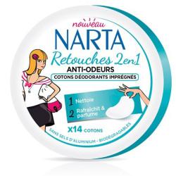 Cotons Déodorants Imprégnés Retouche 2en1 Anti-odeurs NARTA