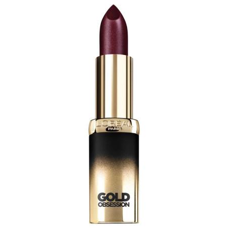 L'ORÉAL - Rouge à Lèvres COLOR RICHE GOLD OBSESSION - Plum Gold