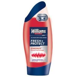 WILLIAMS - Gel Douche 3 en 1 Corps/Visage/Cheveux - Energy