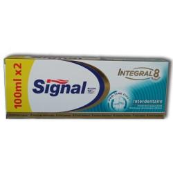 SIGNAL - Lot de 2 Dentifrices INTEGRAL 8 Interdentaire