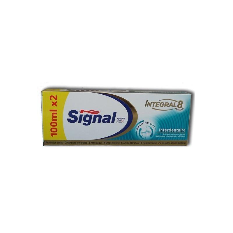 Lot de 2 Dentifrices SIGNAL INTEGRAL 8 - Interdentaire