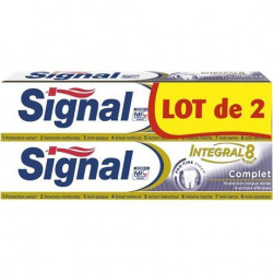 SIGNAL - Lot de 2 Dentifrices INTEGRAL 8 Complet