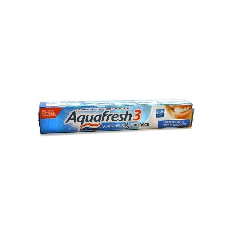 Dentifrice AQUAFRESH 3 - Blancheur & Brillance