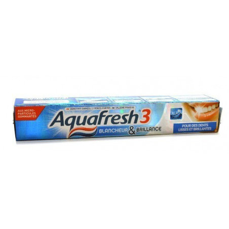 AQUAFRESH 3 - Dentifrice - Blancheur & Brillance