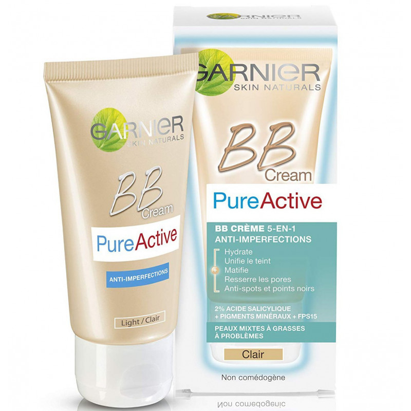 GARBNIER - BB Crème PURE ACTIVE - Teinte Médium