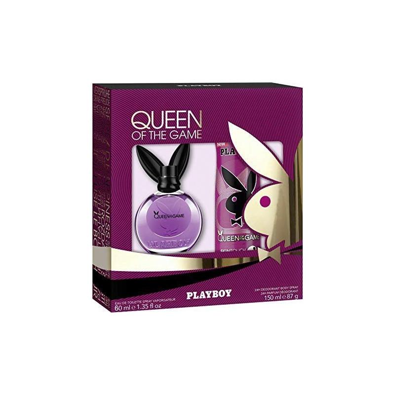 PLAYBOY - Coffret Eau de Toilette + Lait Hydratant pour le Corps - Queen Of The Game