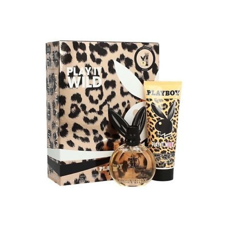 PLAYBOY - Coffret Eau de Toilette + Lait Hydratant pour le Corps - Play It Wild
