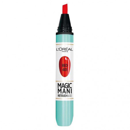 L'ORÉAL - Vernis En Feutre MAGIC MANI RETOUCHES & GO - 401 Red
