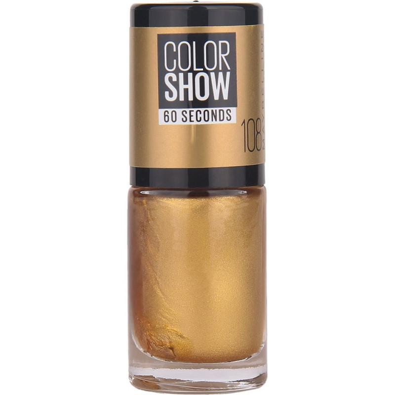 GEMEY MAYBELLINE - Vernis COLORSHOW - 108 Golden Sand