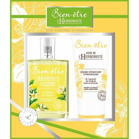 Bien-Être l'Herboriste - Coffret Duo Parfumé Dynamisant - Cédrat