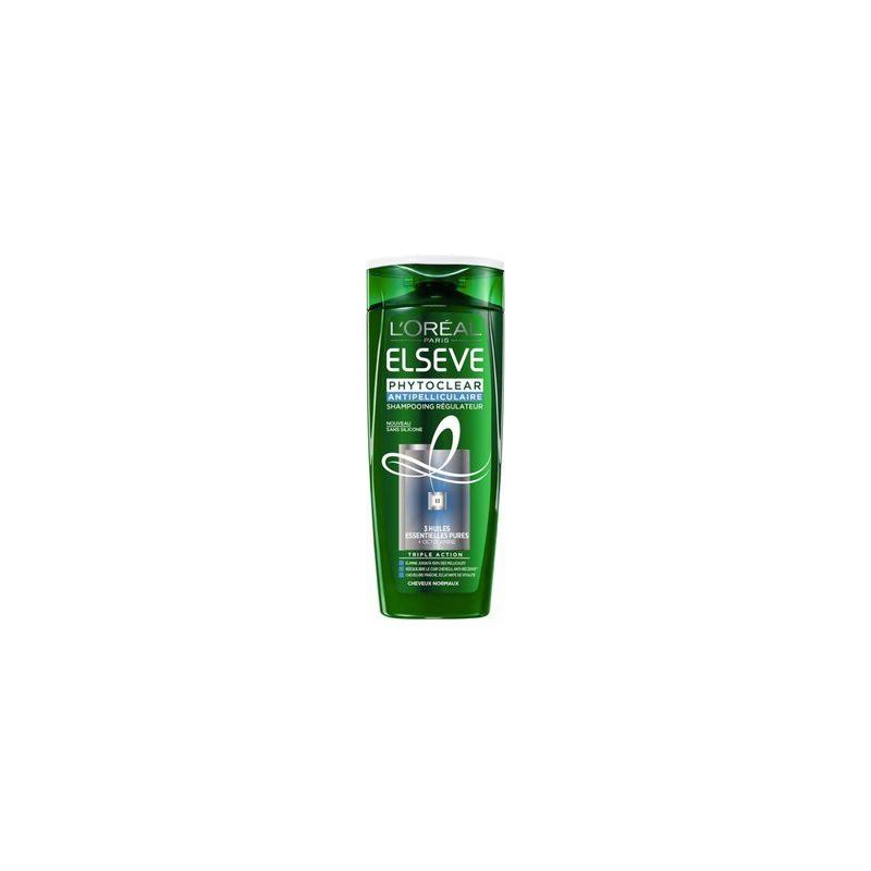 L'ORÉAL - Shampoing Régulateur Antipelliculaire ELSEVE PHYTOCLEAR - Cheveux Normaux