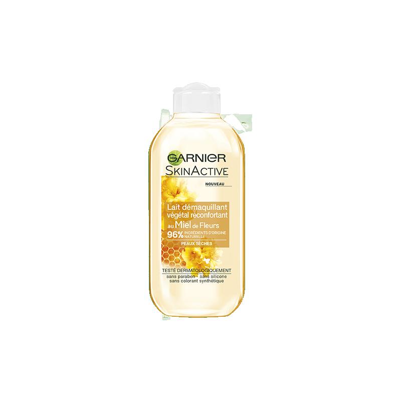 GARNIER - Lait Démaquillant Végétal Réconfortant SKIN ACTIVE - Miel de Fleur