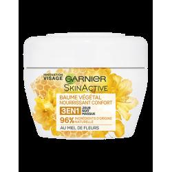 GARNIER - Baume Végétal Nourrissant Confort 3 en 1 - Miel de Fleur