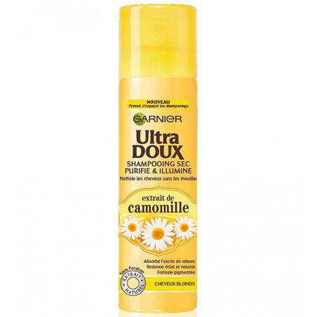 GARNIER - Shampoing Sec ULTRA DOUX - Cheveux Blonds