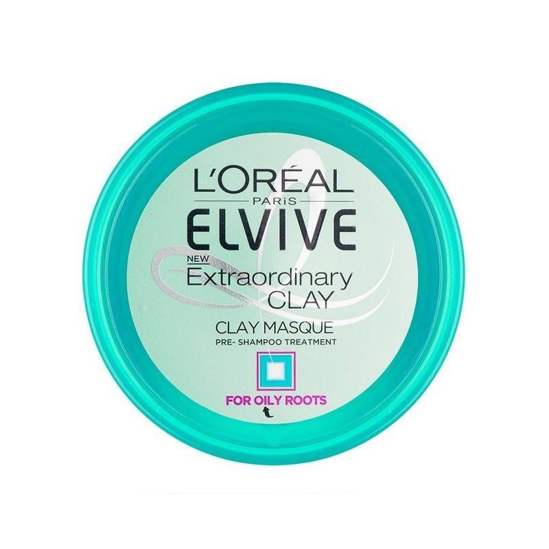 L'ORÉAL - Masque Argile Pré-Shampoing ELSEVE - Cheveux Gras