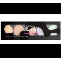 L'Oréal Paris - Palette Correctrice Haute Couvrance INFAILLIBLE TOTAL COVER - Peau Clair à Médium