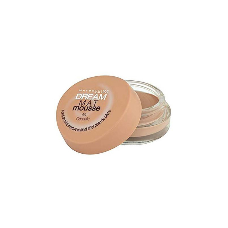 GEMEY MAYBELLINE - Fond de Teint DREAM MAT MOUSSE - 40 Cannelle