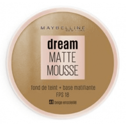 Maybelline New York - Fond De Teint DREAM MAT MOUSSE + Base Matifiante - 48 Beige Ensoleillé
