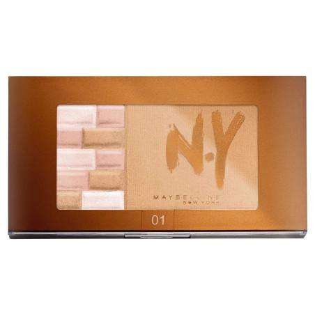 GEMEY MAYBELLINE - Palette Bronzante 2 en 1 NY Bricks Bronzer - 01 Blonde