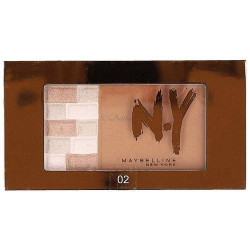 GEMEY MAYBELLINE - Palette Bronzante 2 en 1 NY Bricks Bronzer - 02 Brunette
