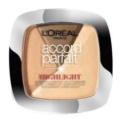 L'Oréal Paris - Poudre Highlighter & Blush ACCORD PARFAIT - 102D Éclat Doré