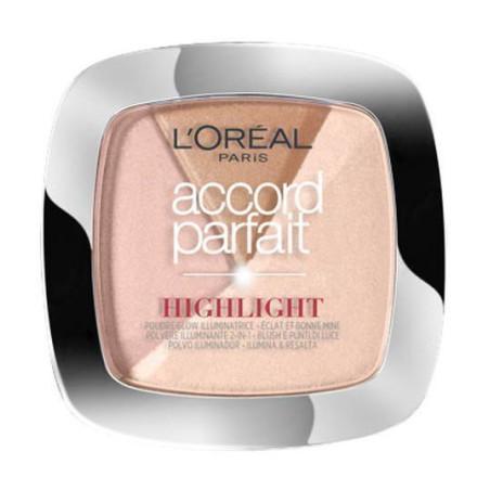 L'Oréal Paris - Poudre Highlighter & Blush ACCORD PARFAIT- 202N Éclat Neutre Rosé