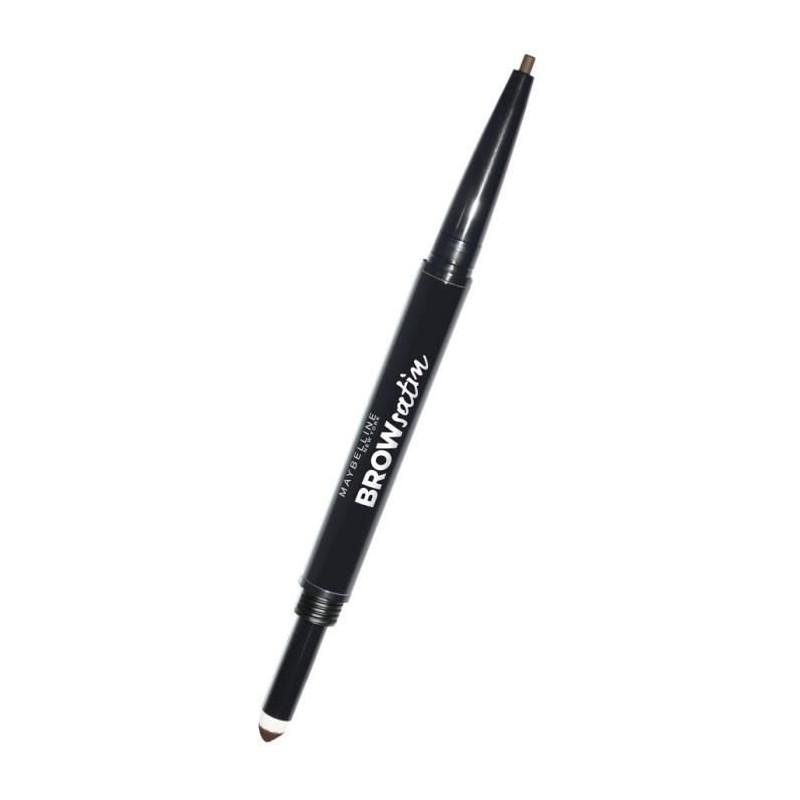 GEMEY MAYBELLINE - Crayon Sourcils BROW SATIN Crayon + Poudre - Châtain moyen