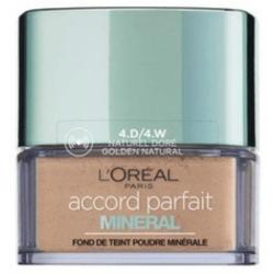 L'ORÉAL - Fond de Teint Poudre Minérale Perfecteur ACCORD PARFAIT - 4D Naturel doré