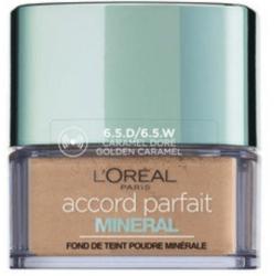 L'Oréal Paris - Fond de Teint Poudre Minérale Perfecteur ACCORD PARFAIT - 6.5D Caramel Doré