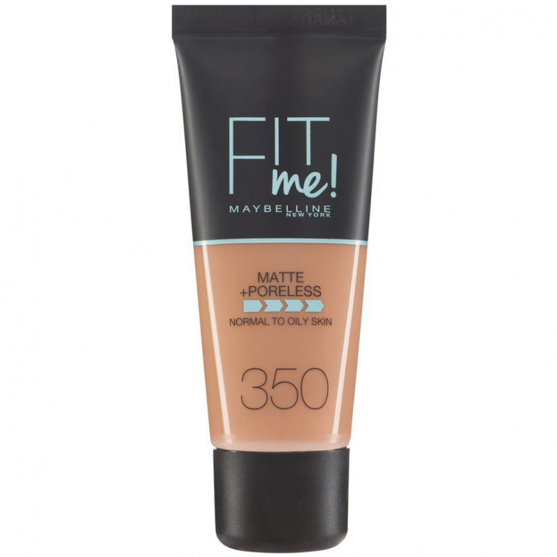 GEMEY MAYBELLINE - Fond de teint FIT ME MATTE & PORELESS- 350 Caramel