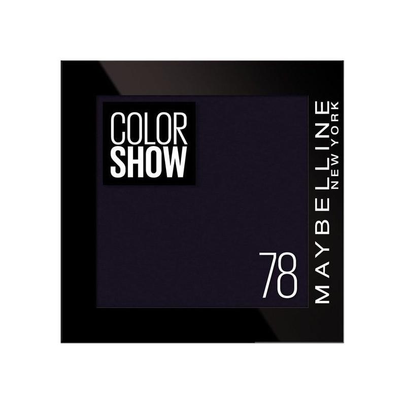 GEMEY MAYBELLINE - Ombre à paupières COLOR SHOW - 78 Black Velvet