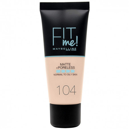GEMEY MAYBELLINE - Fond de teint FIT ME MATTE & PORELESS - 104 Soft Ivory