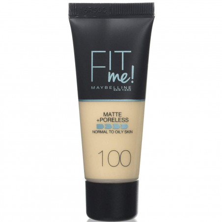 GEMEY MAYBELLINE - Fond de teint FIT ME MATTE & PORELESS - 100 Warm Ivory