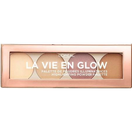 L'Oréal Paris - Palette de poudres Illuminatrices LA VIE EN GLOW - 01 Éclat Doré