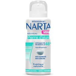 NARTA - Mini-Déodorant Efficacité 48h - Pierre d'alun