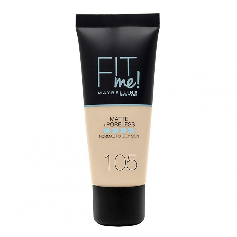 GEMEY MAYBELLINE - Fond de teint FIT ME MATTE & PORELESS - 105 Ivoire Naturel