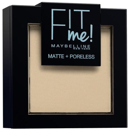 Maybelline New York - Poudre ton sur ton matifiante FIT ME MATTE & PORELESS - 105 Ivoire Naturel