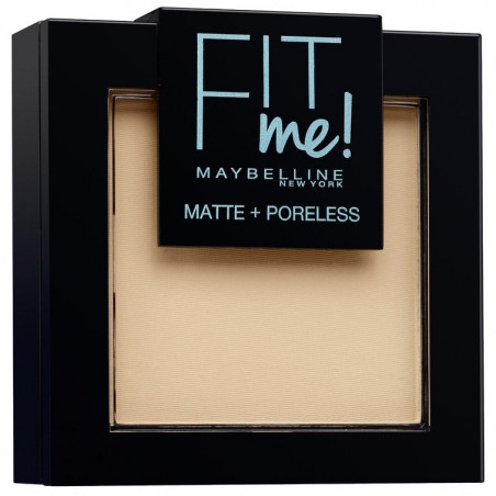 Maybelline New York - Poudre ton sur ton matifiante FIT ME MATTE & PORELESS - 120 Beige Rosé