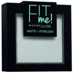 Maybelline New York - Poudre ton sur ton matifiante FIT ME MATTE & PORELESS - 90 Transparent