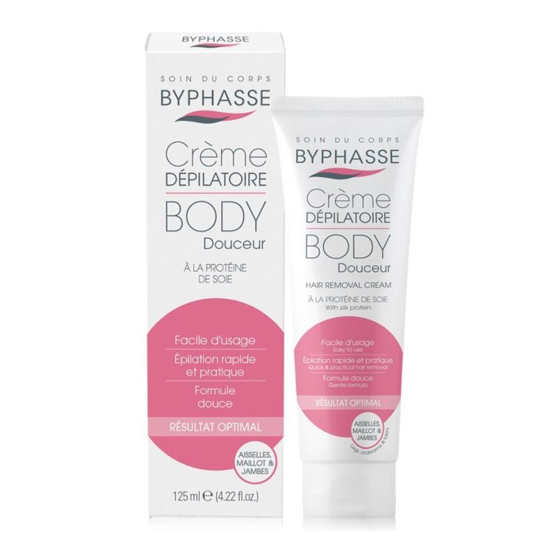 BYPHASSE - Crème Dépilatoire BODY DOUCEUR - à La Protéine de Soie