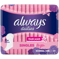 ALWAYS - Protège Slip SINGLES TO GO - Fresh Normal
