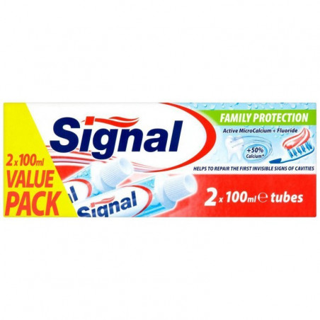 SIGNAL - Lot de 2 Dentifrices FAMILY PROTECTION - 2×100ml