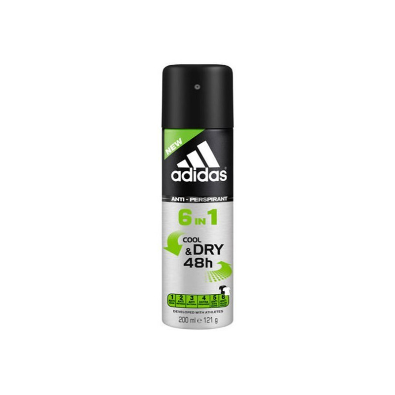 ADIDAS - Déodorant COOL AND DRY 48H 6 en 1 - Anti-perspirant